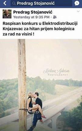 Foto: Predrag Stojanović / Facebook Sramni post koji je Stojanovića koštao direktorske funkcije