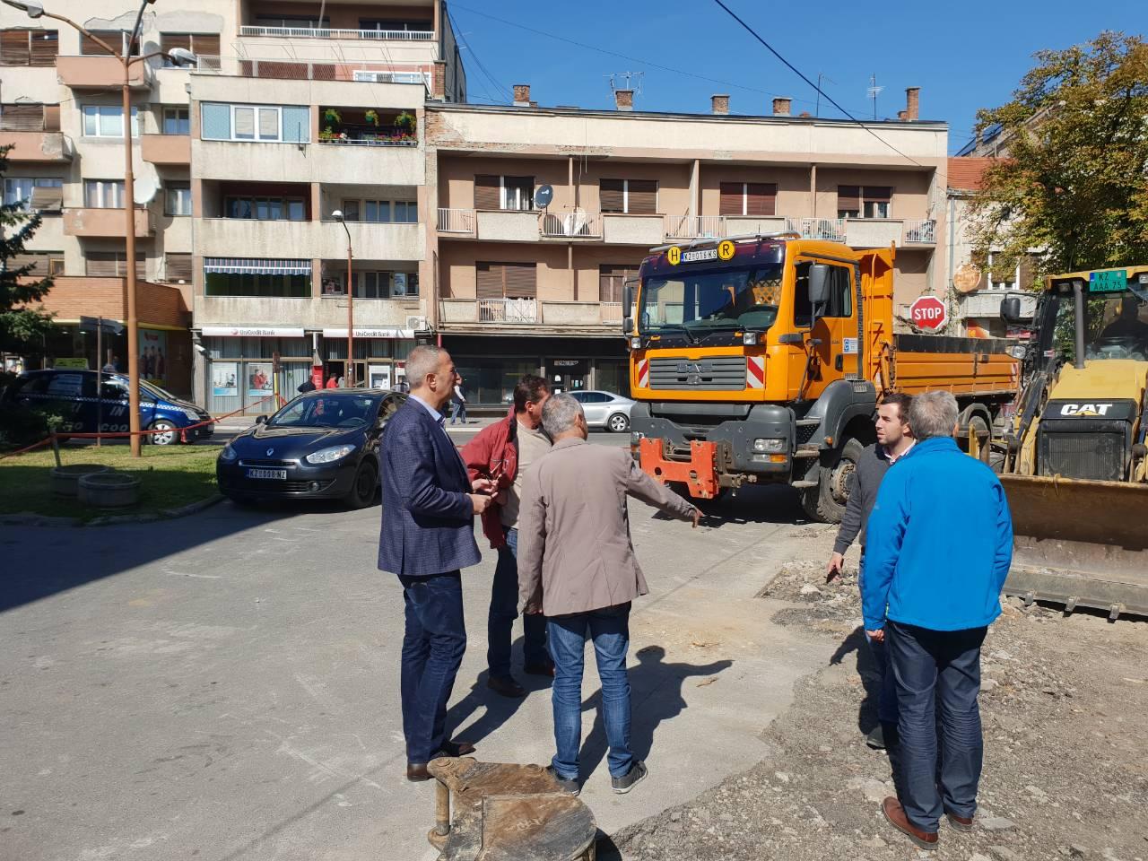 Predsednik opštine Milan Đokić obilazi gradilište, foto: M.N.