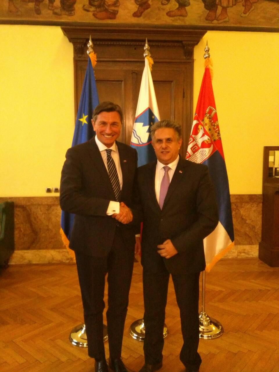 Miletić i Pahor u srdačnom razgovoru, foto: M.M.