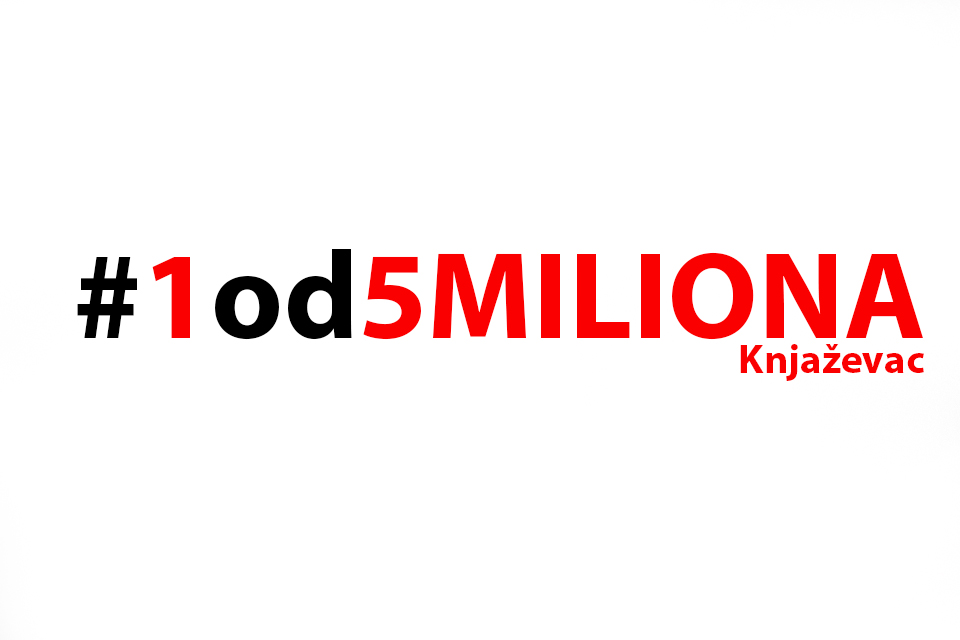 """Drugi miting ''1 od 5 miliona"""" u Knjaževcu"""